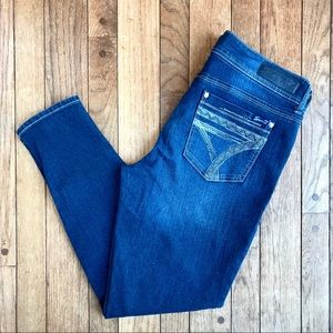 Seven Skinny Jeans Silver Embroidered Pockets